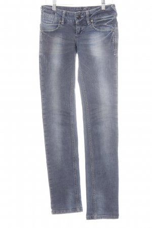 Gang Stretch Jeans stahlblau Jeans-Optik