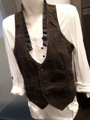 Gang Denim Vest brown-black cotton