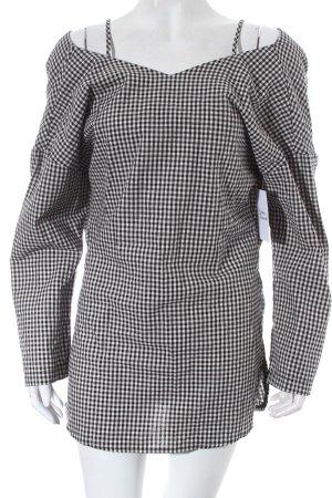 Ganji Bluse schwarz-weiß Vichykaromuster Street-Fashion-Look