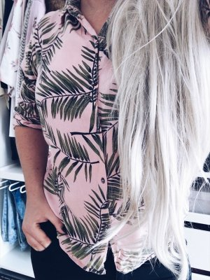 Ganni Bluse mit Palmenprint