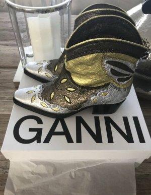 Ganni Western Booties multicolored