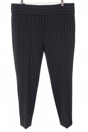 Ganni Bundfaltenhose schwarz-weiß Streifenmuster Brit-Look