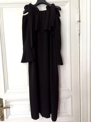 GANNI Clark Maxi Dress Kleid Schwarz Gr.38 *NEU mit Etikett*