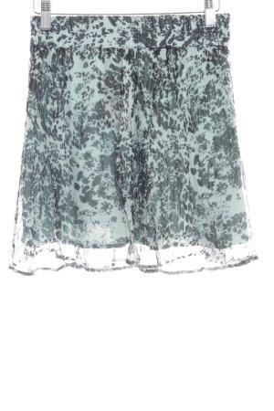 Ganni Faltenrock türkis-dunkelgrün Farbtupfermuster Casual-Look