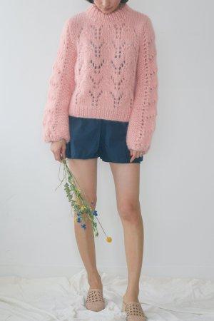 Ganni Faucher Julliard Pullover Pulli Strick Knit Mohair handmade