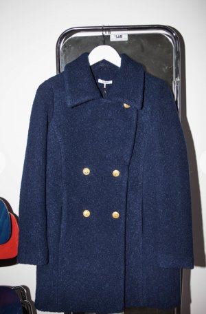 Ganni Heavy Pea Coat multicolored wool