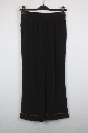 Ganni Falda pantalón de pernera ancha negro-rojo Seda