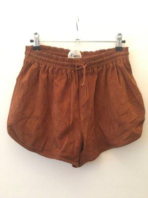 Ganni Hotpants Wildleder braun Gr. XS/S Shorts