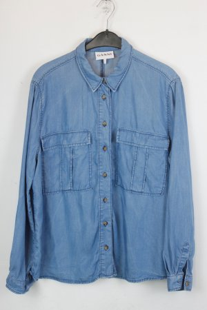 Ganni Camisa vaquera azul celeste-azul pálido