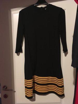 Ganni Longsleeve Dress black-neon yellow