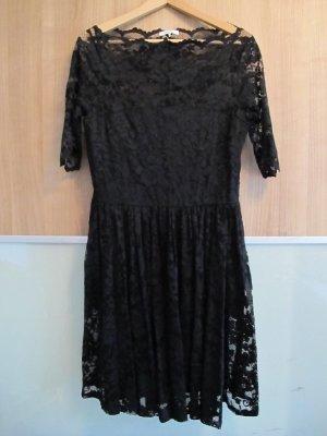 GANNI Kleid schwarz M/L Spitze Abendkleid Partykleid