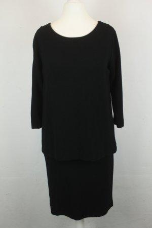 Ganni Kleid Stufenkleid Gr. S schwarz