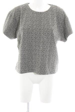 Ganni Jersey de manga corta negro-beige claro moteado look casual