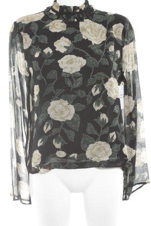 Ganni Langarm-Bluse Blumenmuster klassischer Stil
