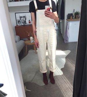 Ganni Latzhose Cremeweiß Clean Chic Oversize Blogger Trend Alexa Chung Gr. M