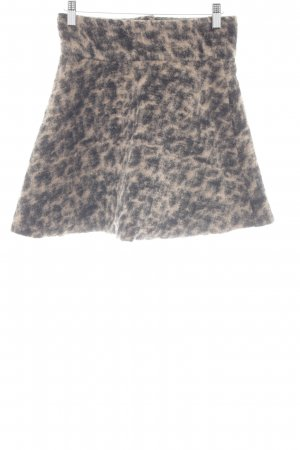 Ganni Miniskirt sand brown-black spots-of-color pattern casual look