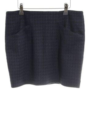 Ganni Minirock schwarz-dunkelblau Hahnentrittmuster 90ies-Stil