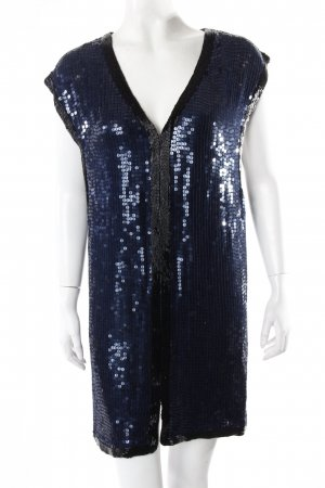 Ganni Paillettenkleid dunkelblau S