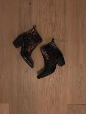Ganni Western Booties multicolored