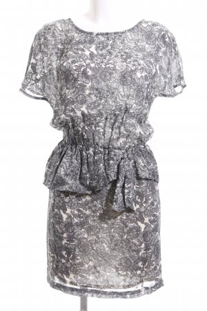 Ganni Peplum Dress flower pattern elegant