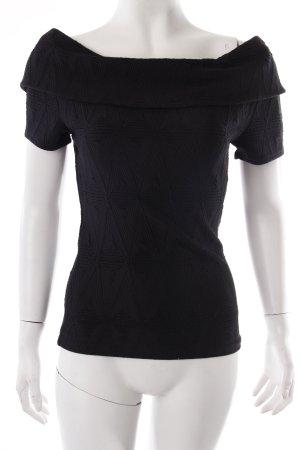 Ganni Shirt mit Bardot Ausschnitt Schwarz