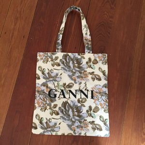 Ganni Shopper mit Blumenprint mit floralem Muster