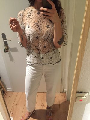 Ganni  Spitze Top Shirt Oberteil transparent  neu!