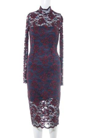 Ganni Spitzenkleid dunkelblau-dunkelrot Elegant