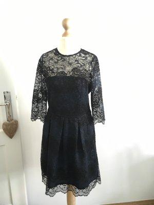 Ganni Spitzenkleid dunkelblau/ schwarz Gr.S