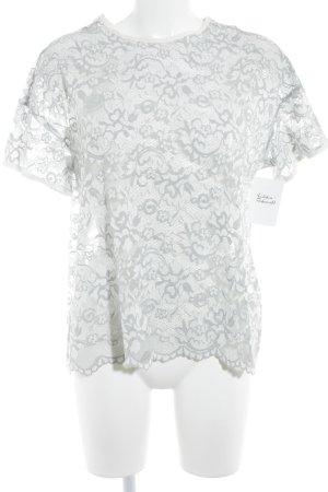 Ganni T-Shirt blassblau florales Muster Elegant