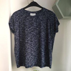 Ganni Camiseta blanco-azul oscuro Viscosa