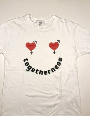 Ganni Camiseta estampada multicolor
