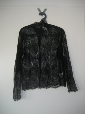Ganni Lace Top black