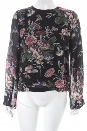 Ganni Transparenz-Bluse florales Muster Casual-Look