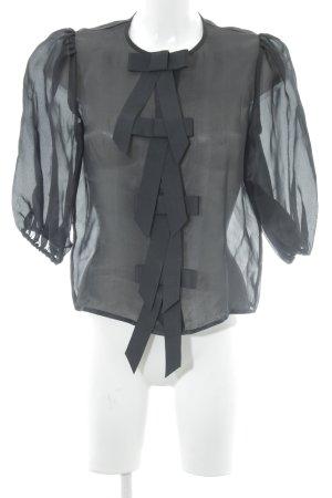 Ganni Blouse transparente noir style décontracté