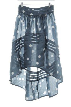 Ganni Tüllrock dunkelblau-hellgrau Punktemuster extravaganter Stil