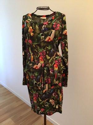 Ganni Peplum Dress multicolored