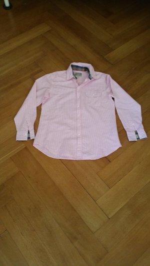 Gant Baumwoll Bluse rosa weiß gestreift in Größe 40