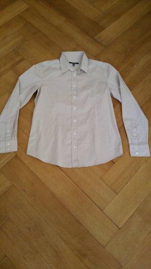 Gant Bluse beige mit weißen Streifen Größe 44