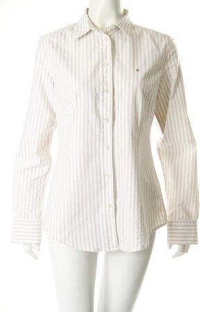 Gant Bluse beige-weiß gestreift