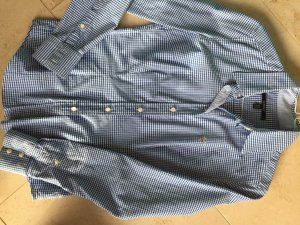 GANT Bluse blau/weiß Karo Gr. 36 slim