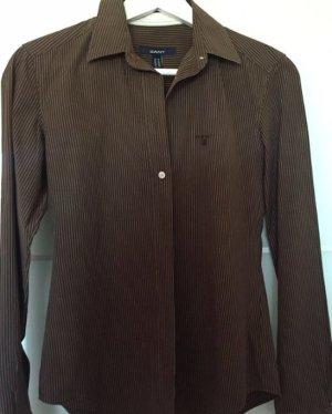 Gant Bluse Damen Gr. 36 braun neuwertig