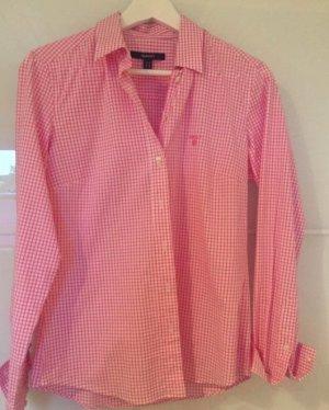 Gant Bluse Damen Gr. 38 rosa kariert ungetragen