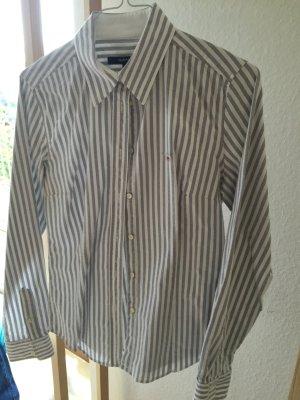 GANT Bluse gestreift grau/weiß