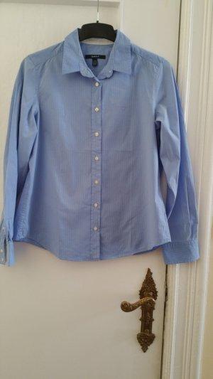 Gant Bluse hellblau mit weißen Streifen Größe 46