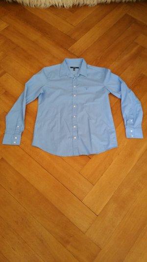 Gant Bluse in hellblau mit weißen Streifen Größe