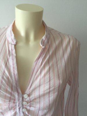 Gant Bluse in Weiß/Rosé gestreift, Größe 38