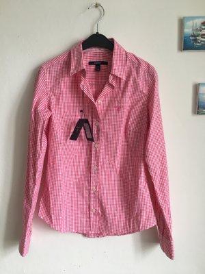 Gant Bluse Kariert XS 34 36 pink weiß Hemd