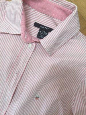 GANT Bluse rosé und weiß gestreift