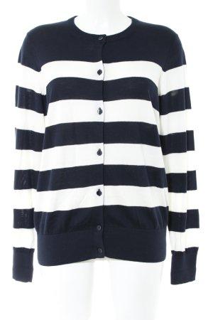 Gant Cardigan schwarz-weiß Streifenmuster Casual-Look